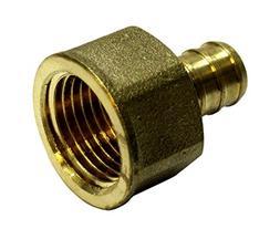 "1/2"" Pex Female Adapter NPT 1/2 inch Brass  Threaded Crimp F"