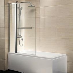 "Pivot Radius Framed 1/4"" Clear Glass 55""X39"" Bath Tub Shower"