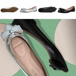 Pointed Toe Ballet Flats Women Slip On Cushioned Closed Toe