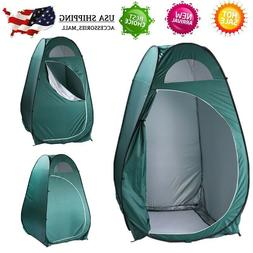 Portable Pop Up Outdoor Toilet Shower Tent Windproof Dressin