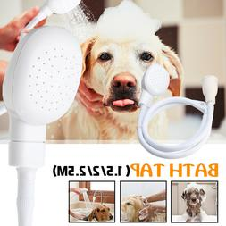 Portable Sink Bath Shower Head Dog Pet Washing Holder Attach