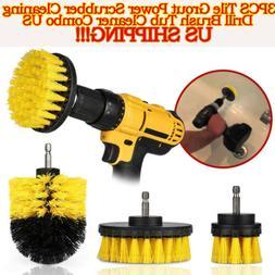 Power Scrubber Drill Brush Set Cleaner Spin Tub Shower Tile