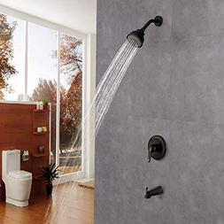 KES Pressure Balance Bathroom Shower Faucet Set Combo Comple
