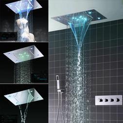 "Rain  20"" Large Rain LED Shower Head Thermostatic Shower Mix"