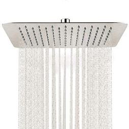 SR SUN RISE 12 Inch Rain Shower Head Brushed Nickel 304 Stai