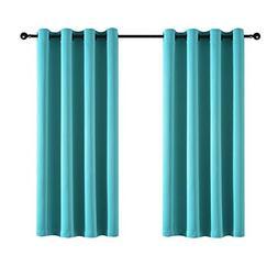 Kotile Room Darkening Curtains Energy Smart Solid Grommet Cu