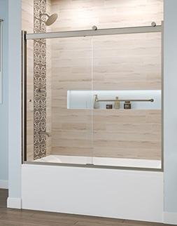 Basco Rotolo 56-60 W x 57 H inch Semi-Frameless Sliding Bath