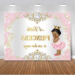 Mehofoto Royal Princess Baby Shower Backdrop Pink Silver Dia