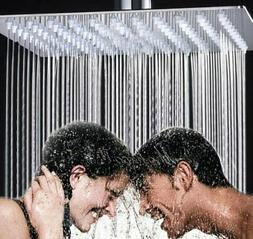 Rozin Bathroom 16 Inch Square Rainfall Shower Head Chrome Fi