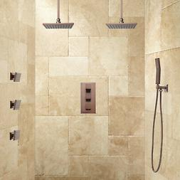 Ryle Dual Rainfall Shower System with Hand Shower & Body Spr
