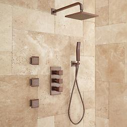 Ryle Thermostatic Shower System with Hand Shower and 3 Body