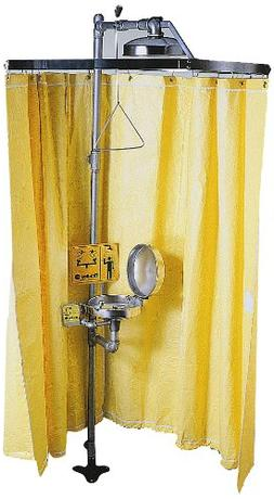 Bradley S19-330 Vinyl Laminate Safety Shower Privacy Curtain