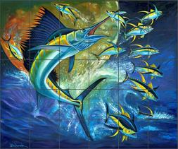 Sailfish Tile Backsplash Fernando Agudelo Fishing Art Cerami