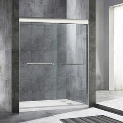"WoodBridge  Semi Frameless Bypass Sliding Shower Door 56"" to"