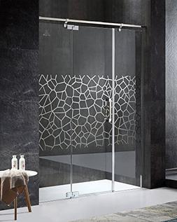 "78.74"" x 63"" Semi-Frameless Shower Door with Hinged - Polish"