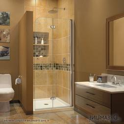 DreamLine SHDR-3634720-01 AquaFold 33.5x72 Clear Shower Door