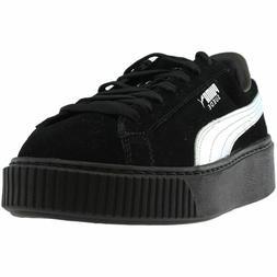 Puma Shoes for Women Silver Black SUEDE PLATFORM EXPLOS B -W