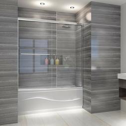 """ELEGANT SHOWER Bypass Sliding Shower Tub Doors  60""""W Chrome"""