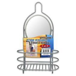 Shower Caddy w/ Mirror Stainless Steel w/ polished chrome ru