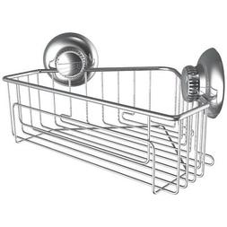 Gecko-Loc Corner Shower Shelf Caddy Organizer w Vacuum Sucti