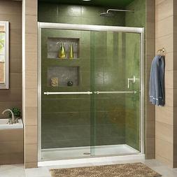 "Dreamline Shower Door, 56""60"" x 72"" Duet Clear Glass 2Panel"