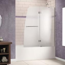 "Dreamline Shower Door, 48""W x 58""H Aqua Hinged Bathtub Door,"