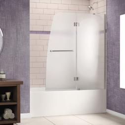 """Dreamline Shower Door, 48""""W x 58""""H Aqua Hinged Bathtub Door,"""