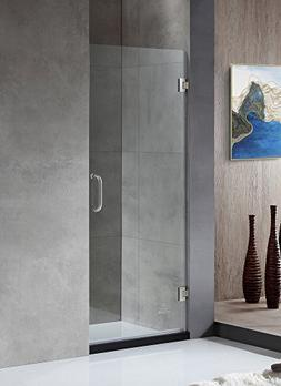 "72"" x 30"" Shower Door with Hinged - Brushed Nickel - Fellow"