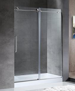 "76"" x 48"" Shower Door with Sliding - Brushed Nickel - Madam"