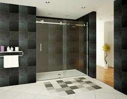 "56-60""Wx76""H Semi-Frameless Sliding Shower Door ULTRA-B Brus"
