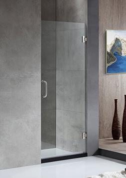 "72"" x 24"" Shower Door with Hinged - Brushed Nickel - Fellow"