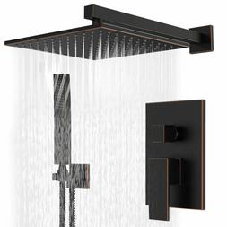 Shower Faucet 8 inch Rainfall Shower With Handheld Shower Se