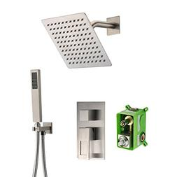 SUMERAIN Shower Faucet Brushed Nickel,Rough-in Valve Include