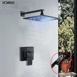 "Shower Faucet Set 12"" Top Rain Sprayer Shower Head Handheld"