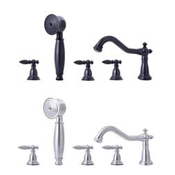 Shower Faucet Vintage Stylish Roman Tub with Handshower Brus