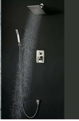 Shower Fixtures Brushed Nickel All Metal Split Big Flow Rain