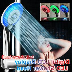 Shower Head LED Light Water Saving Bathroom Tool Temperature