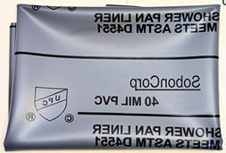 """SHOWER PAN LINER KIT 6X8 """"Oatey"""",grey"""
