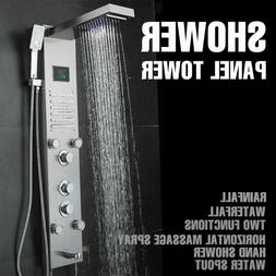Shower Panel Tower System Column Spa LED Rain Waterfall Head