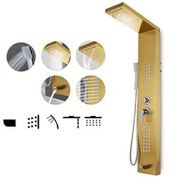 Happybuy Shower Panel Tower System Stainless Steel Multi-Fun