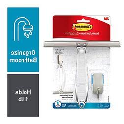 Command 076308728564 Shower, Satin Nickel, 1-Squeegee, 1-Hoo