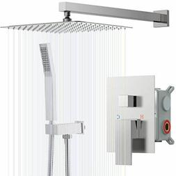 Rinkmo Shower System,Brushed Nickel Wall Mounted Rainfall Sh