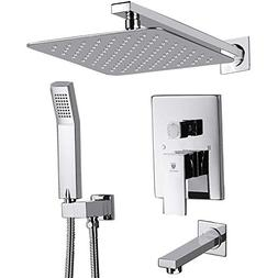 HIMK Shower System, Shower Faucet Set with Tub Spout and 10""
