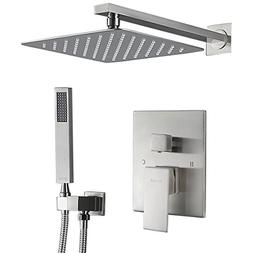 Esnbia Shower System, Brushed Nickel Shower Faucet Set with