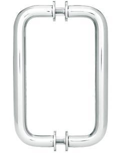SHOWERDOORDIRECT 6-Inch Tubular Back-to-Back Shower Door Pul