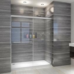 """ELEGANT Showers 54""""W Semi-Frameless Bypass Sliding Shower Do"""