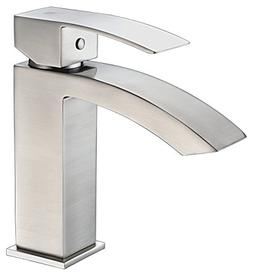 Single Hole Single-Handle Bathroom Faucet - Brushed Nickel -
