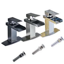 single lever waterfall bathroom sink faucet vanity