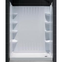 "DreamLine SlimLine 34"" x 60"" Single Threshold Shower Base Le"