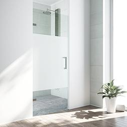VIGO SoHo 28 to 28.5-in. Adjustable Frameless Shower Door wi